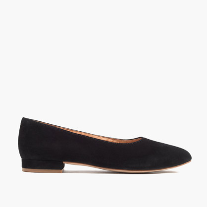 The Leia Ballet Flat in Suede