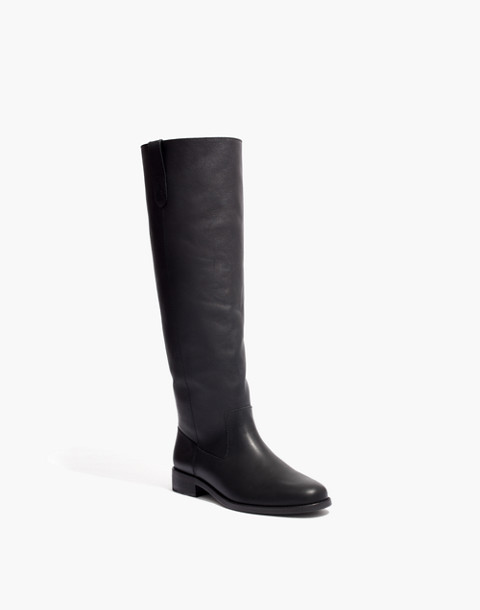The Allie Knee-High Boot With Extended Calf in true black image 2
