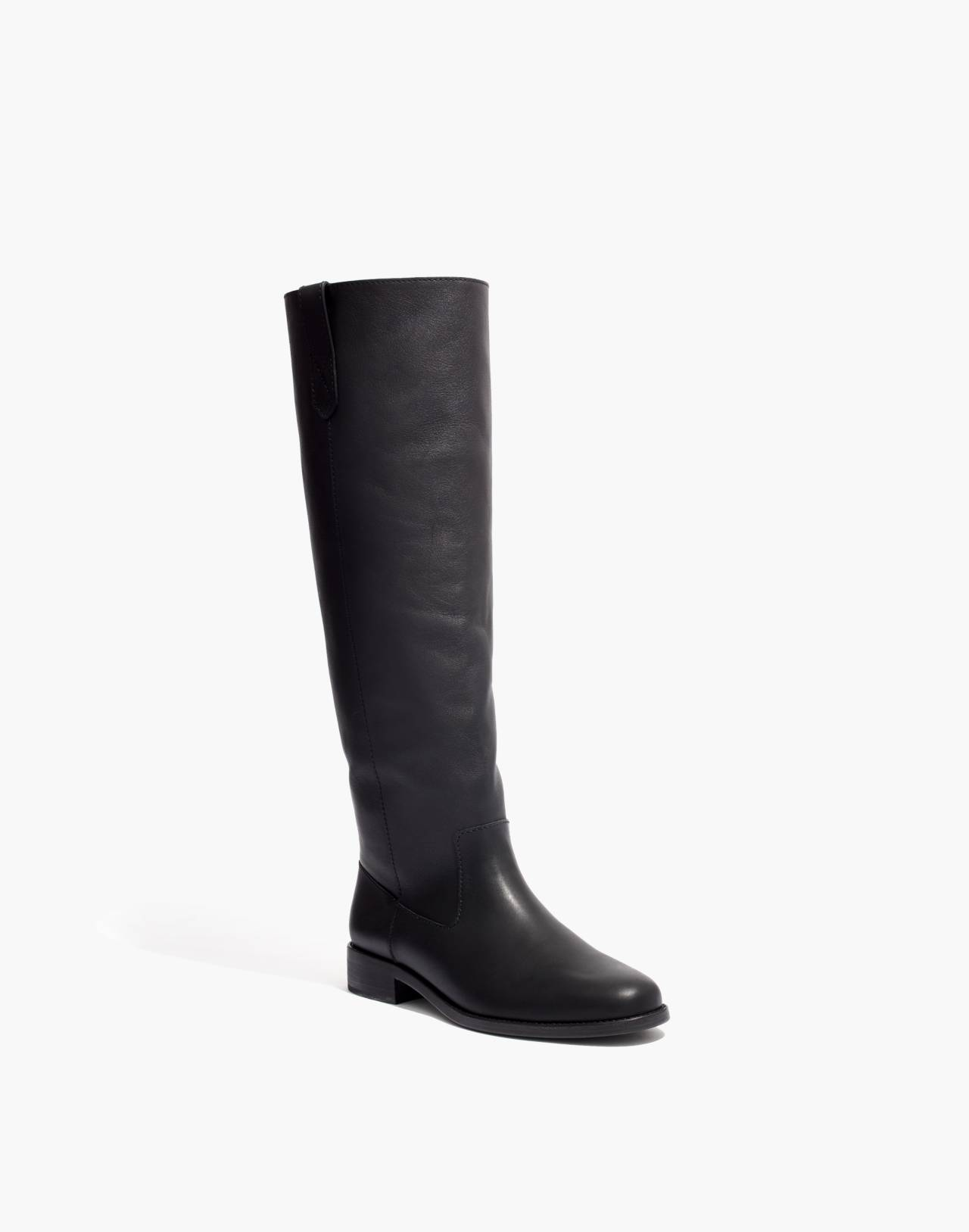 The Allie Knee-High Boot in true black image 2