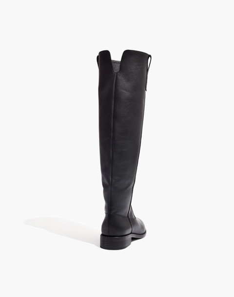 The Allie Knee-High Boot With Extended Calf in true black image 3