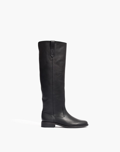 The Allie Knee-High Boot With Extended Calf in true black image 1