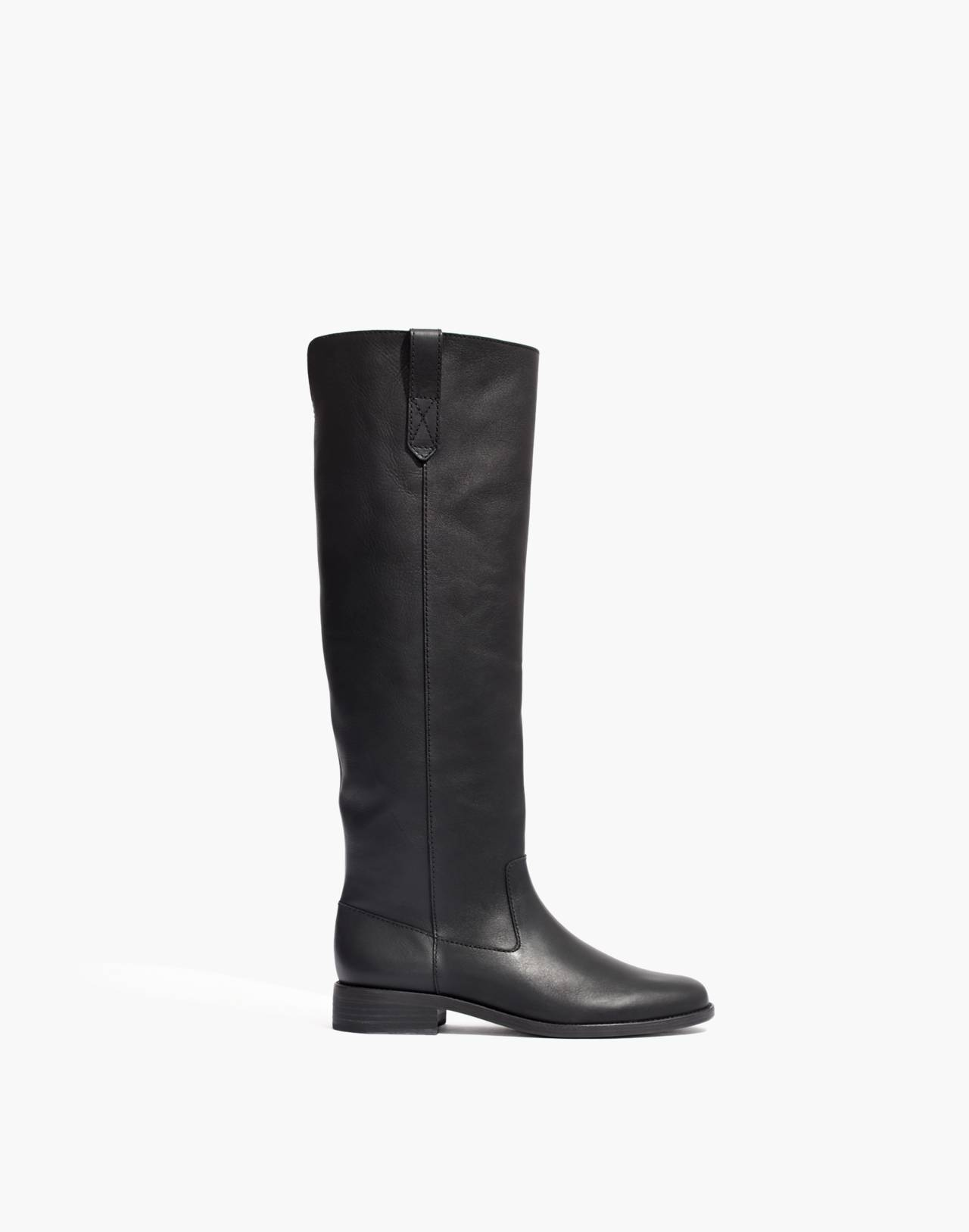 The Allie Knee-High Boot in true black image 1