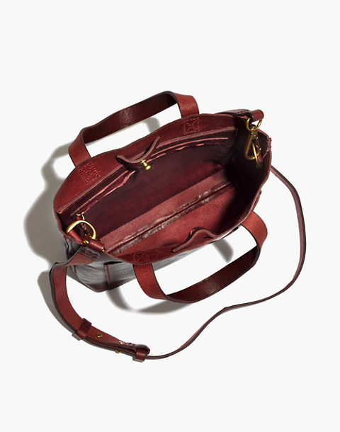 The Small Transport Crossbody in dark cabernet image 2