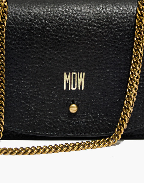 The Chain Crossbody Bag in true black image 3