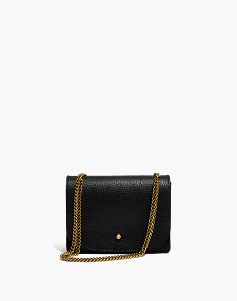 The Chain Crossbody Bag in true black image 1