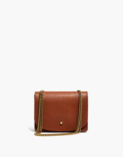 The Chain Crossbody Bag in english saddle image 1