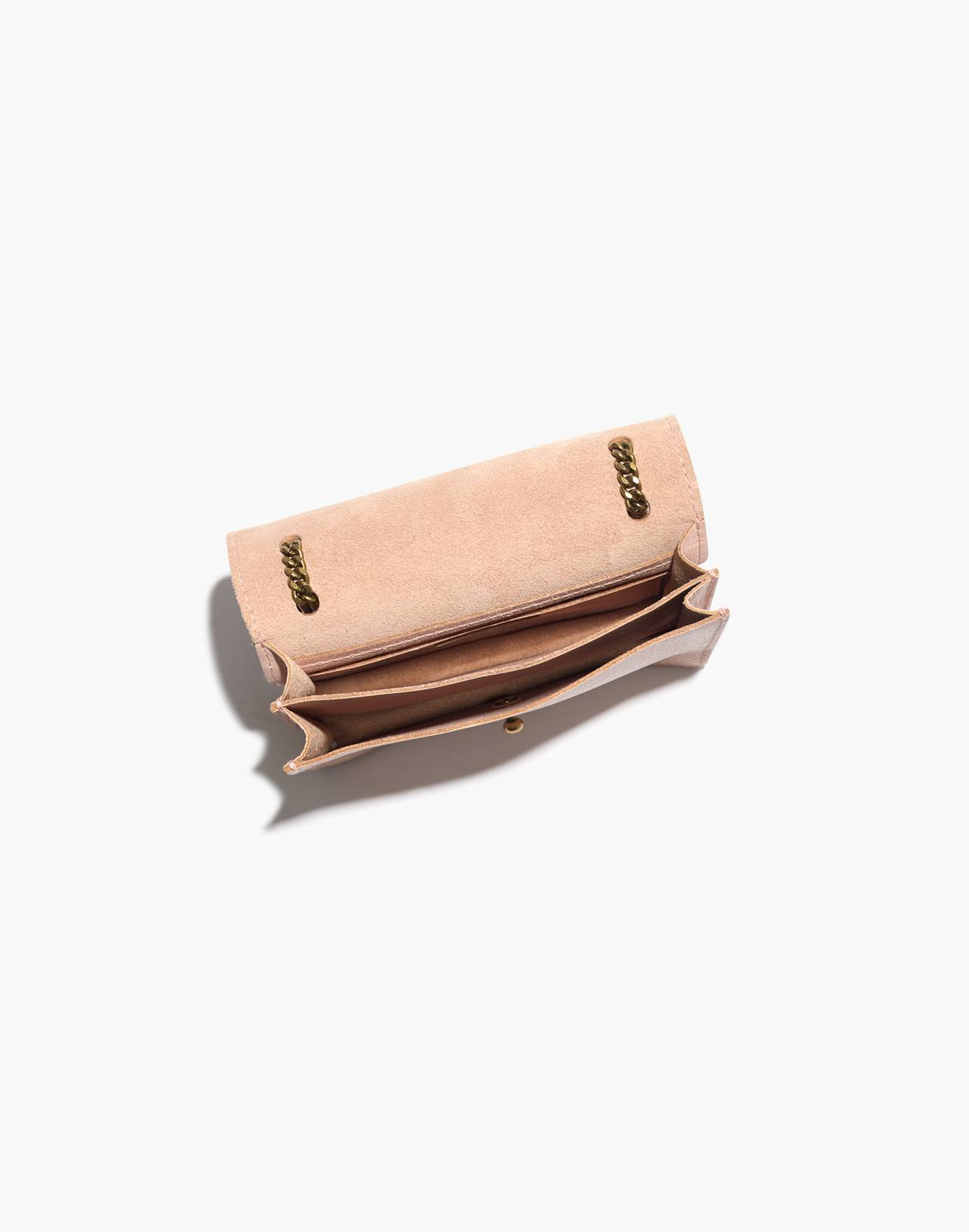 The Chain Crossbody Bag in sheer pink image 3