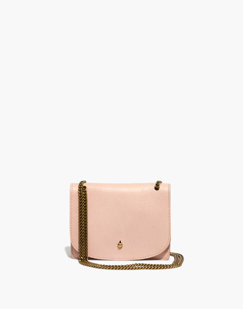 The Chain Crossbody Bag in sheer pink image 1