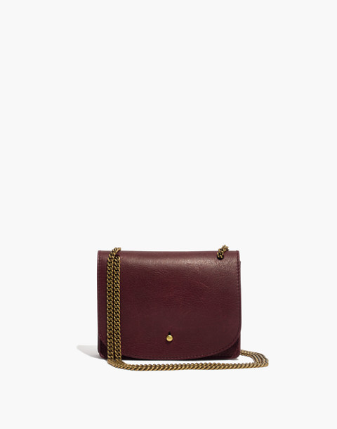 The Chain Crossbody Bag in dark cabernet image 1