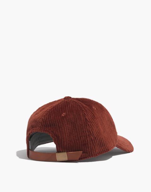 Corduroy Baseball Cap in burnished mahogany image 2
