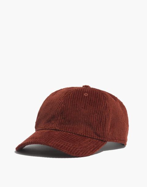 Corduroy Baseball Cap in burnished mahogany image 1