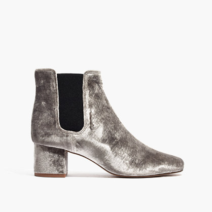 The Walker Chelsea Boot in Velvet