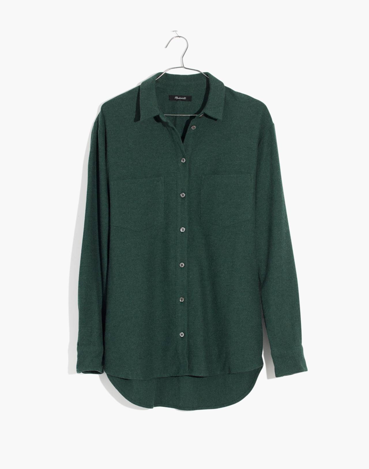Flannel Sunday Shirt in hunter green image 4
