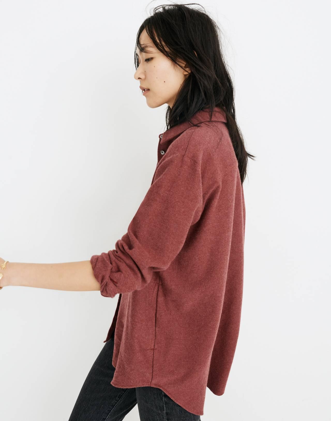 Flannel Sunday Shirt in light burgundy image 2