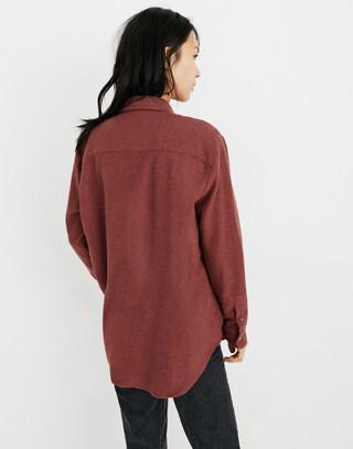 Flannel Sunday Shirt in light burgundy image 3