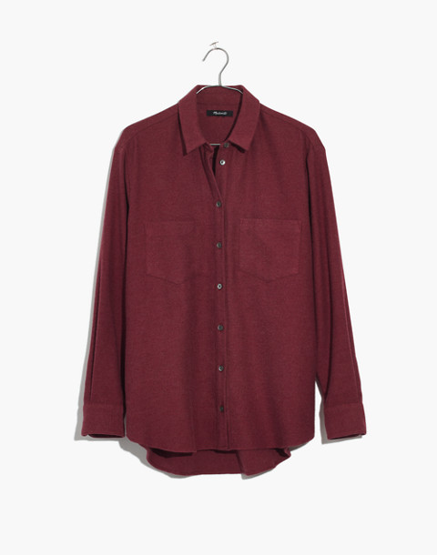 Flannel Sunday Shirt in light burgundy image 4