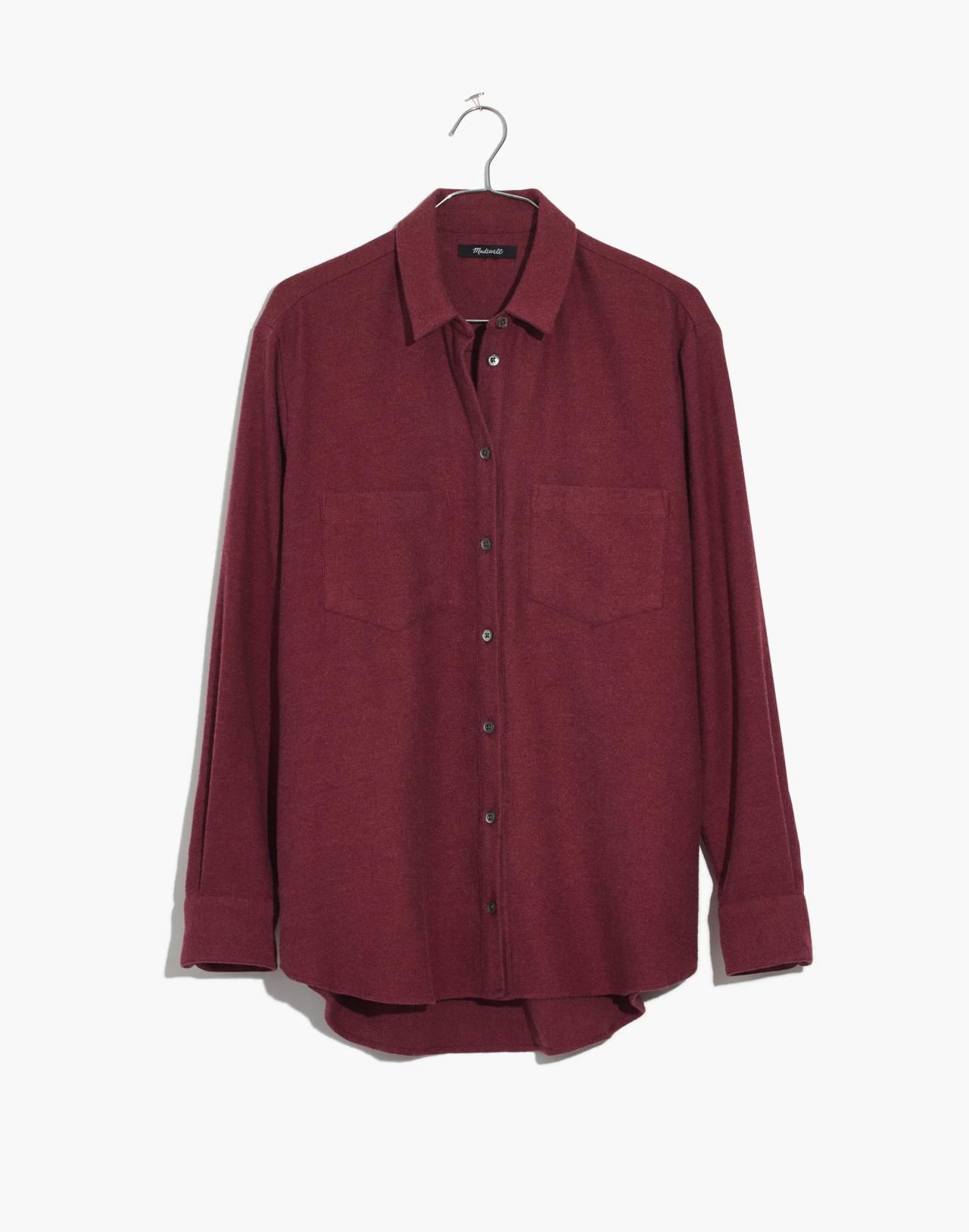 Flannel Sunday Shirt in light burgundy image 4