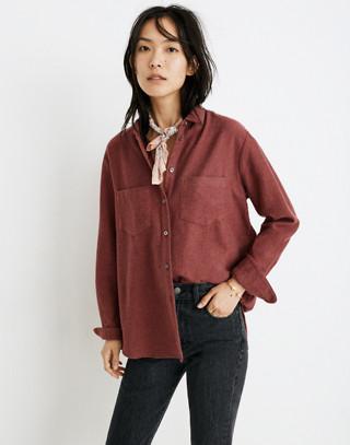 Flannel Sunday Shirt in light burgundy image 1
