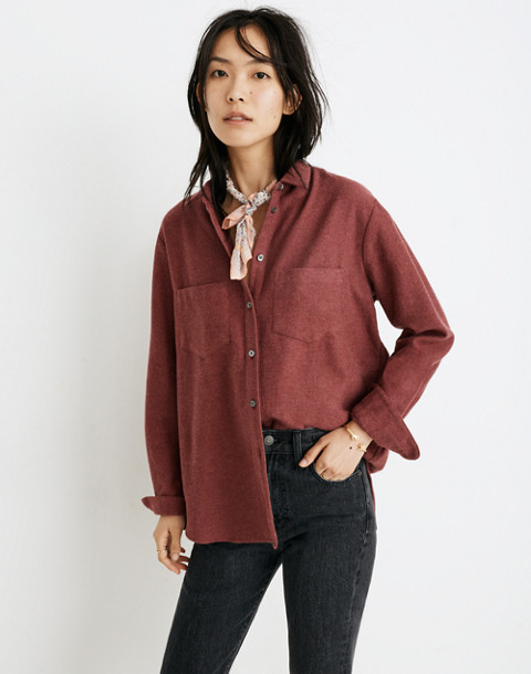 Flannel Sunday Shirt in light burgundy image 1