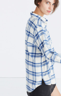 Oversized Ex-Boyfriend Shirt in Akiva Plaid