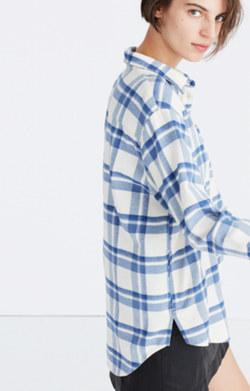 Oversized Ex-Boyfriend Shirt in Akiva Plaid