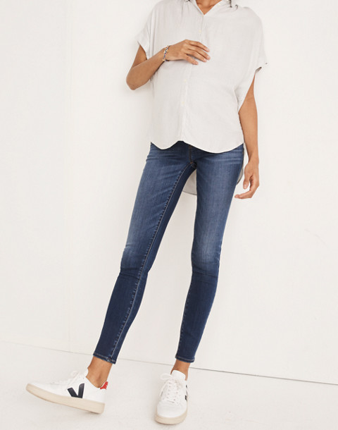 Maternity Over-the-Belly Skinny Jeans in Danny Wash: Tencel® Edition in danny image 2