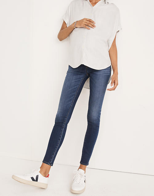 e31fb8ba6b76 Maternity Over-the-Belly Skinny Jeans in Danny Wash  Tencel trade  Edition  in