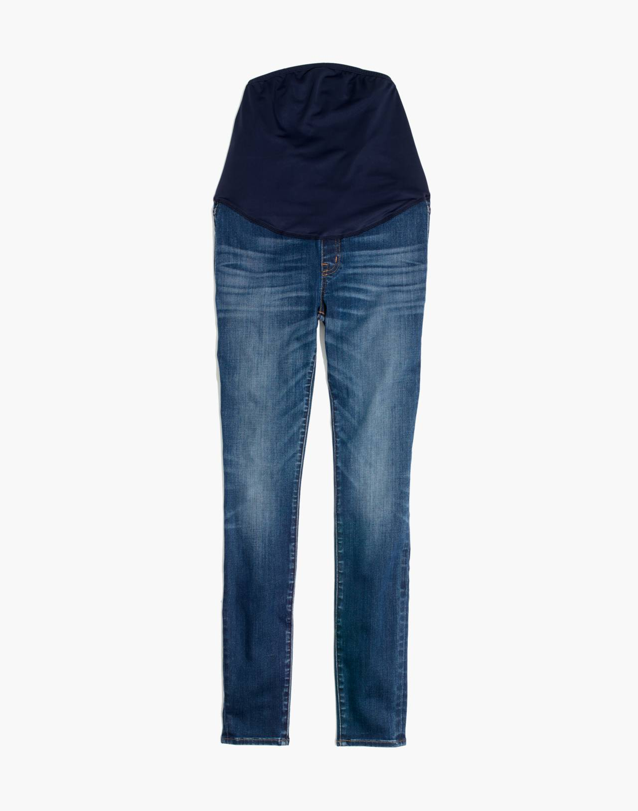 Maternity Over-the-Belly Skinny Jeans in Danny Wash: Tencel™ Edition in danny image 4