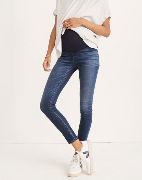 Maternity Over-the-Belly Skinny Jeans in Danny Wash: Tencel® Edition in danny image 1