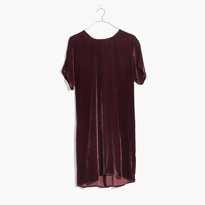 Velvet Bow-Back Tee Dress