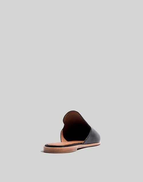 b9e8a38fc5bb The Gemma Mule in Leather in true black image 4