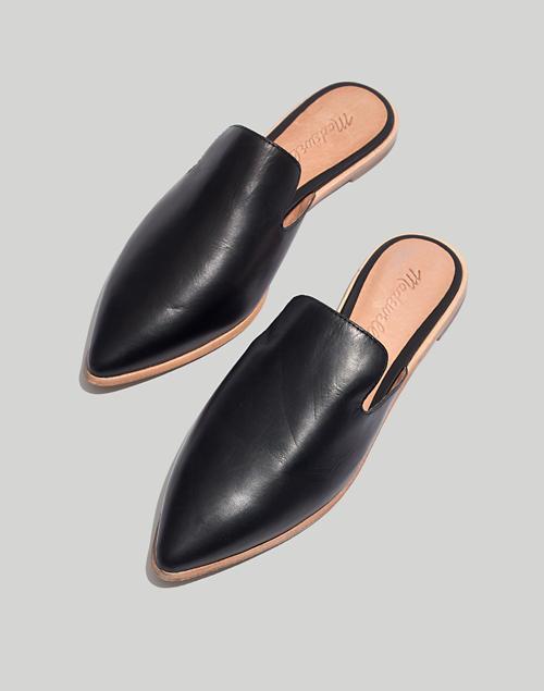 3ce265a2ab89 The Gemma Mule in Leather in true black image 1