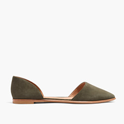 The Arielle d'Orsay Flat in Suede