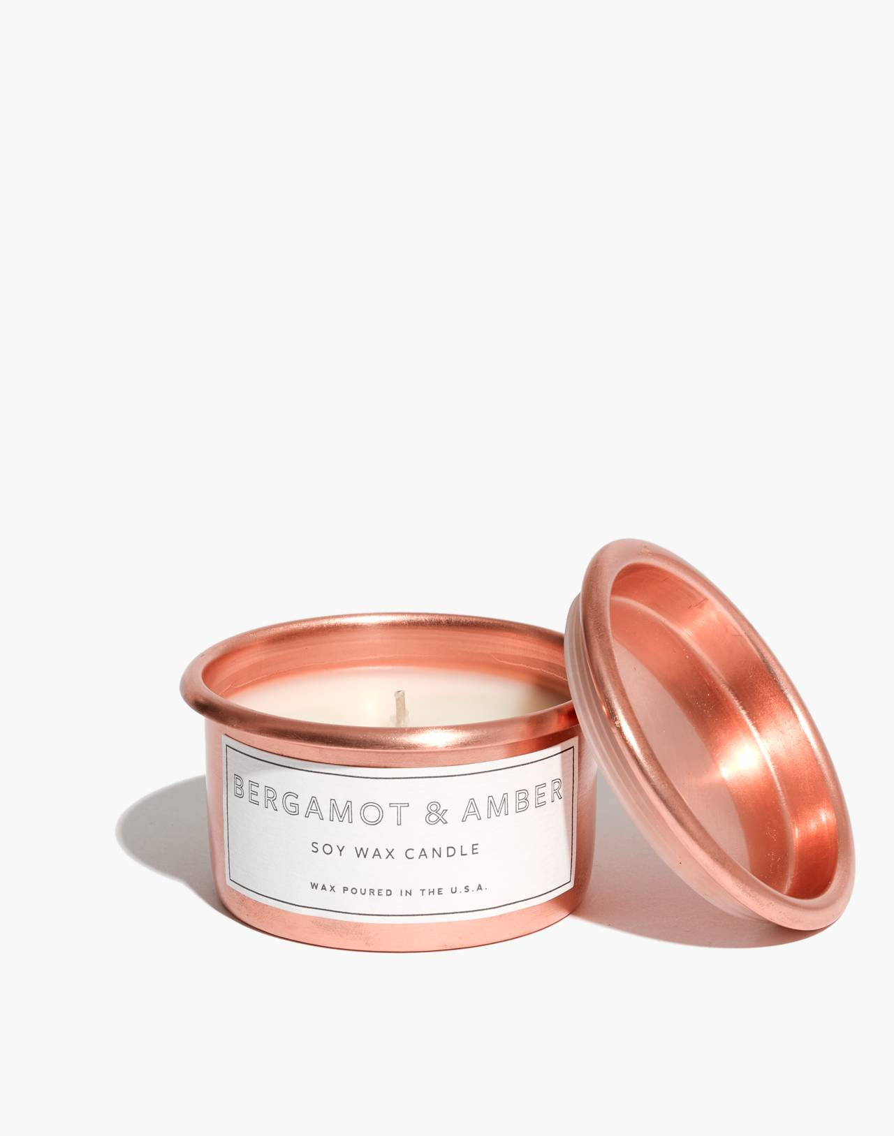 Mini Metal Tumbler Candle in bergamot amber image 1