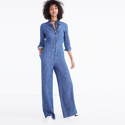 Denim Wide-Leg Jumpsuit