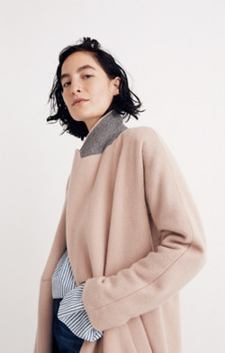 Atlas Cocoon Coat in Avalon Pink