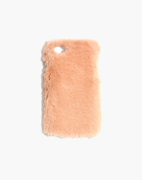 Faux-Mink Case for iPhone® 7 in golden apricot image 1