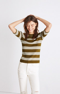 Ribbed Sweater Top in Bennett Stripe