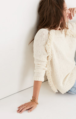 Loop-Edge Pullover Sweater