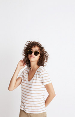 Alto Scoop Tee in Harriet Stripe