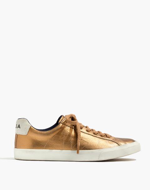 Veja™ Esplar Low Sneakers in Metallic Bronze in ambre image 2
