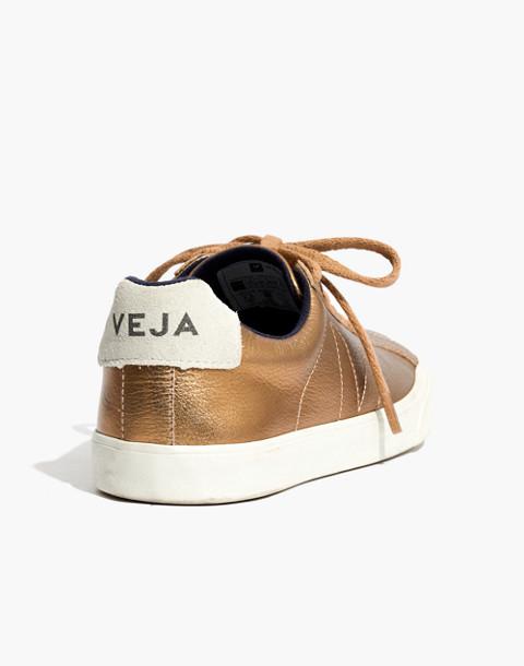 Veja™ Esplar Low Sneakers in Metallic Bronze in ambre image 3