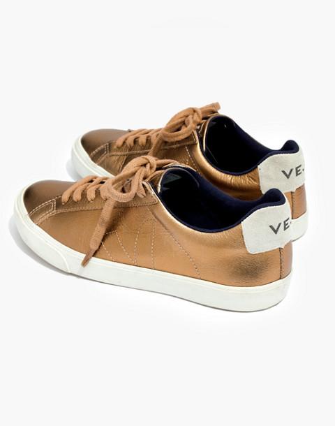 Veja™ Esplar Low Sneakers in Metallic Bronze in ambre image 1