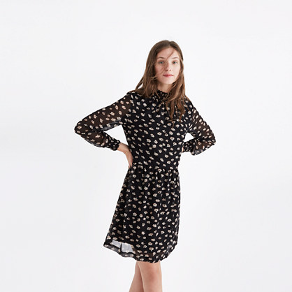 Mistlight Mockneck Dress in Seattle Floral