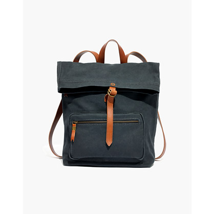 The Canvas Foldover Backpack
