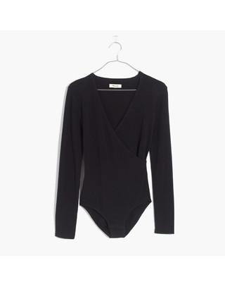 Wrap Bodysuit in true black image 4