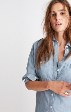 Chambray Oversized Ex-Boyfriend Shirt