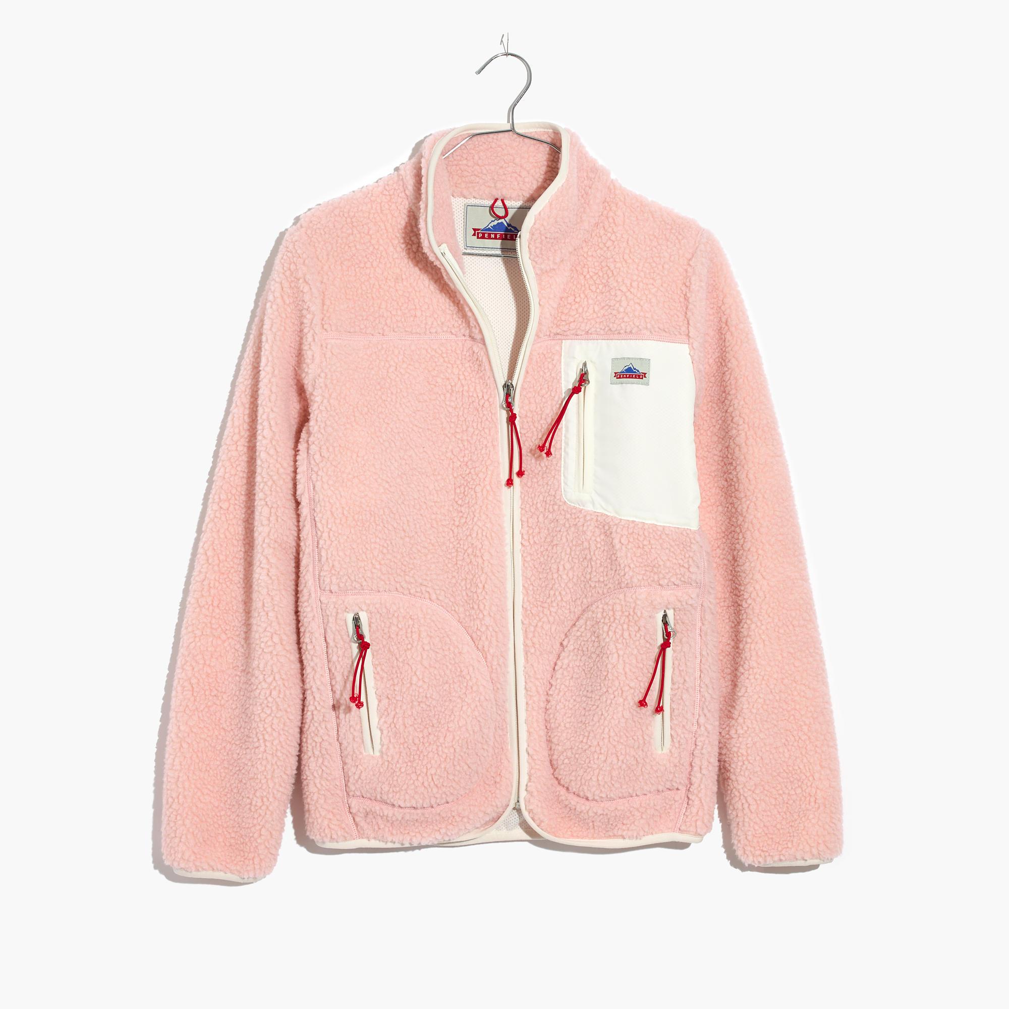 Madewell x Penfield® Lucan Pink Fleece Jacket : shopmadewell ...