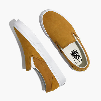 Vans® Unisex Classic Slip-On Sneakers in Medal Bronze Suede