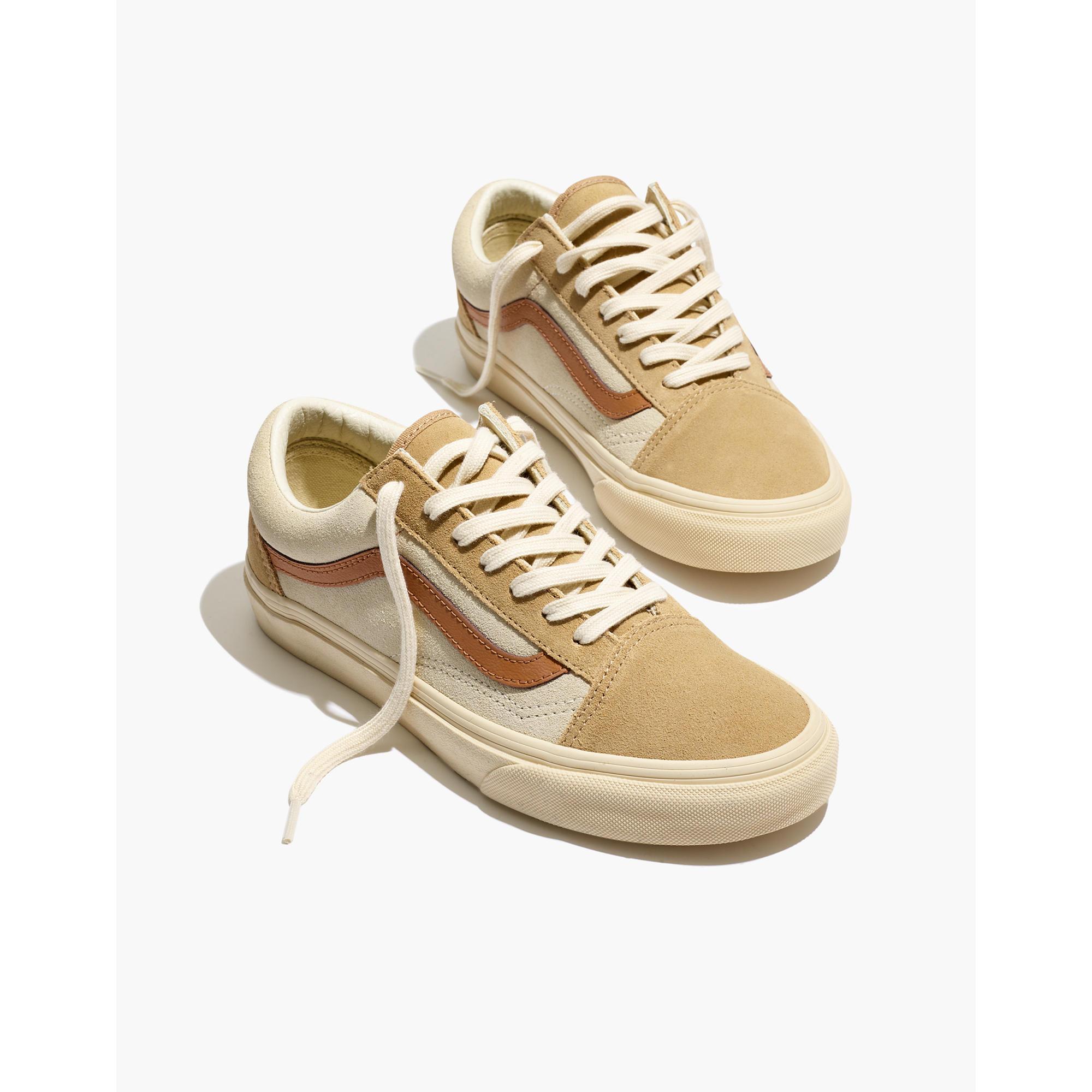 Pre Order Madewell X Vans Unisex Old Skool Lace Up Sneakers In Inside Flats Joyce Pink Camel Colorblock
